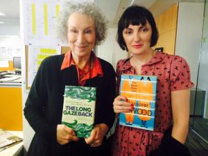 Sinéad Gleeson & Margaret Atwood hold each other's most recent books (via Sinéad Gleeson)